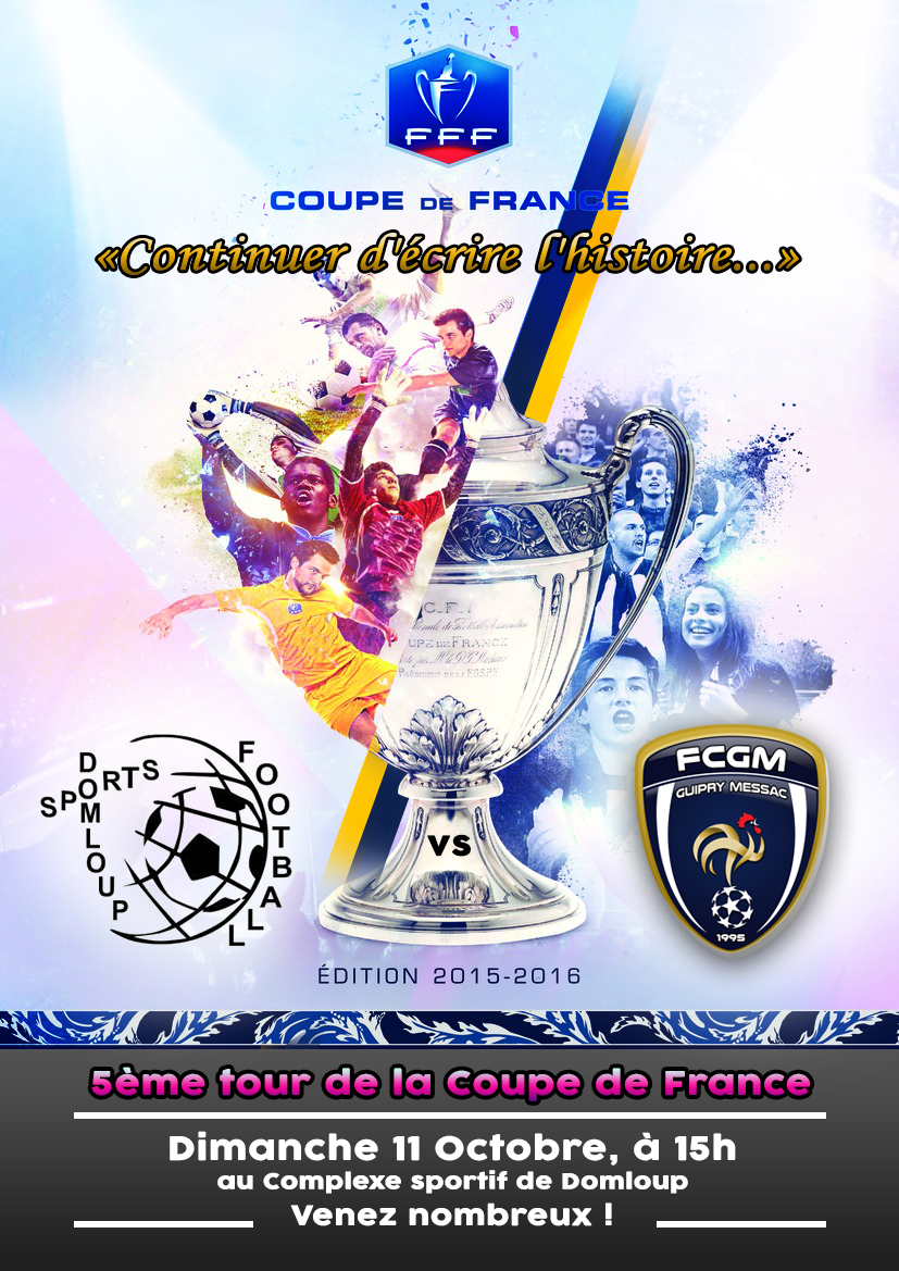 Coupe de france 5 me tour domloup football club - Resultat tirage coupe de france 2015 ...